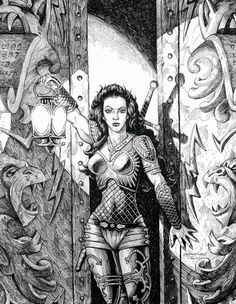 f Fighter Heavy Armor Cloak Longsword Lantern female urban City undercity story Dungeons & Dragons Gary Gygax Castle Greyhawk Encounters lg Dungeons And Dragons Art, Advanced Dungeons And Dragons, Fantasy Drawings, Fantasy Artwork, Classic Rpg, Vikings, Sword And Sorcery, Fantasy Illustration, Fantasy Rpg