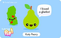 Cute cartoon perry pear jokes in a kawaii style