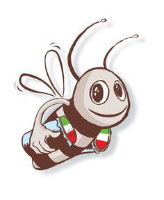 Miàm l'abeille, mascotte du site Mon Italie En Ligne, explore les terroirs italiens pour vous apporter le meilleur de la gastronomie italienne artisanale.