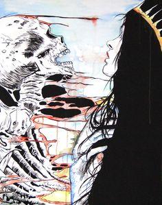 Fusion  Watercolor, charcoal, acrylic on paper 50×65 cm Natasha vkikx@yahoo.com  http://natasha-art-illustrations.com