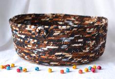 Brown Cat Bed, Woodland Storage Organizer, Handmade Magazine Rack, Dark Chocolate Pet Bed, Earth Tone Fabric Basket by WexfordTreasures on Etsy