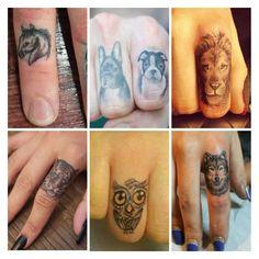 Animal finger tattoos