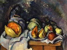 Still Life with Fruit and a Ginger Pot by Paul Cezanne