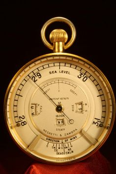 Antiques Maritime Hot Sale Antique Victorian Baker High Holborn London Leather Cased Pocket Barometer C1890