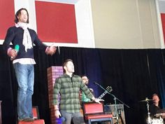 Jensen and Jared take the stage again! so crazy guys!! sj.w @ CarryOn_SPN J2  #ChiCon