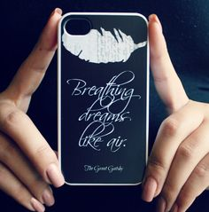 The Great Gatsby iPhone Case Black Quote by NeverMorePrints