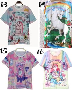 Camisetas Unicorn/Pony T-shirts WH256 - Thumbnail 4