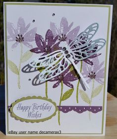 HAPPY BIRTHDAY, THANK YOU HANDMADE CARD KIT, STAMPIN' UP DRAGONFLY DREAMS #HandmadeStampinUp #BirthdayAdult
