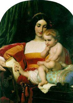 La Infancia de Pico della Mirandola | Delaroche Óleo sobre lienzo Autor: Paul Delaroche (1797-1856) Fecha: 1842  Ubicación: Museo de Bellas Artes, Nantes, Francia