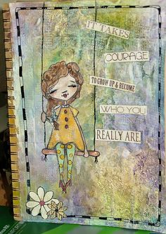 Birgit's Daily Bytes: Art Journaling Page - Who You Really Are
