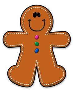 Gingerbread Boy/Man Clipart FREEBIE~~png file