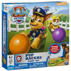 Are you the fastest pup of them all? Find out with the Paw Patrol Pup Racers Game! It's non-stop ball-chasing racing fun! Chase and Rubble are racing up the track to fetch balls. Whoever collects the
