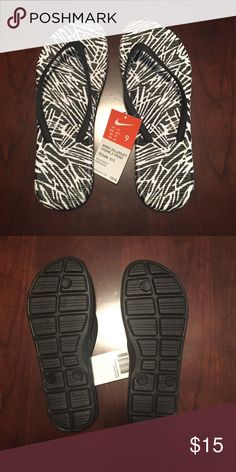 9aac13a6371210 NIKE FLIP FLOPS BRAND NEW NIKE FLIP FLOPS - black and white Nike Shoes  Sandals