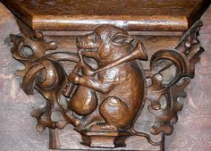 Misericord from collegial St Martin of Colmar (FRANCE)