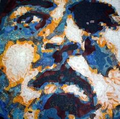 Muhammed Ali was made using thousands of pieces of fused fabrics.