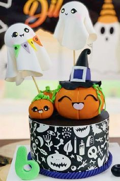 Check out this fun Halloween party! What an awesome cake!! See more party ideas and share yours at CatchMyparty.com