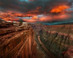 Toroweap Point, North Rim of The Grand Canyon  ~By Chris Moore - Exploring Light Photography via Getty Images.