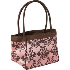 pink and brown purse