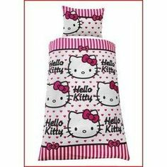 Childrens Kids Hello Kitty Quilt Duvet Cover Bedding Set (Twin Bed) (Pink White)  by Hello Kitty.  23.45. Girls Kids Hello Kitty Design Duvet Set, ... 36d339be1da