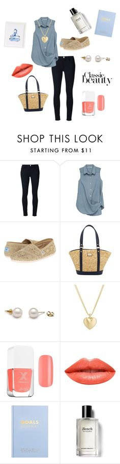"""""""Untitled #153"""" by skylovessave ❤ liked on Polyvore featuring Frame, Bobeau, TOMS, St. John, Finn, Ardency Inn, kikki.K and Bobbi Brown Cosmetics"""