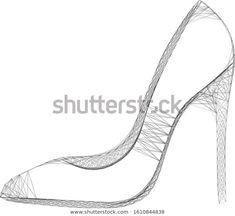 Стоковая векторная графика «Vector Cobweb Op Art Stiletto Generative» (без лицензионных платежей), 1610844838 Mathematical Model, Generative Art, Op Art, Fractals, Model