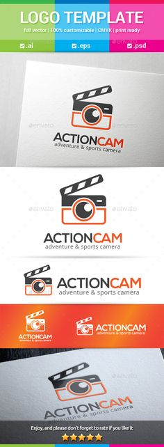 Action Cam Logo (Vector EPS, AI Illustrator, Resizable, CS, action, action cam, adventure, board, cam, camera, clapboard, clapper, clapper board, cut, director, extreme, film, film slate, footage, movie, photo, recording, shooting, shots, slate, slate board, sports, sync slate, time slate, video)
