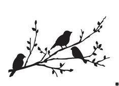 Darice embossing-memorizzare Stencil 10,8x14,6cm Birds Branch