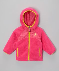 Look at this Rugged Bear Hot Pink Sherpa Reversible Jacket - Infant, Toddler