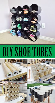 Do you have shoes everywhere? Tidy up with DIY shoe tubes!