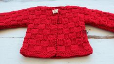 Baby Cardigan knitting tutorial step by step Baby Cardigan Knitting Pattern, Easy Knitting Patterns, Crochet Cardigan, Baby Knitting, Crochet Baby, Knit Crochet, Baby Pullover, Baby Sweaters, Kids