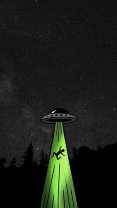 Alien Hijack iPhone Wallpaper - iPhone Wallpapers