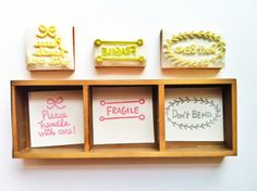 STAMPS!!! YES!!airmail rubber stamp   hand carved rubber stamp  by talktothesun, $55.00