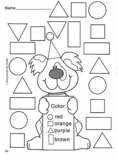 Crafts,Actvities and Worksheets for Preschool,Toddler and Kindergarten.Free printables and activity pages for free.Lots of worksheets and coloring pages. Preschool Learning, Kindergarten Worksheets, Worksheets For Kids, Math Activities, Preschool Activities, Preschool Shapes, Printable Shapes, Teaching Shapes, Shapes Worksheets