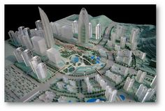 3D Printer Creates Stunning Skyscrapers for Seoul's New Business District!- Modelzium 3D Printed Models