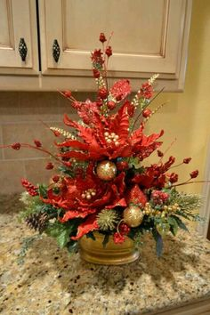 Fantastic Xmas decorations info are readily available on our web pages. Check it out and you will not be sorry you did. Christmas Flower Arrangements, Christmas Flowers, Floral Arrangements, Christmas Holidays, Christmas Wreaths, Etsy Christmas, Christmas 2019, Christmas Table Centerpieces, Xmas Decorations