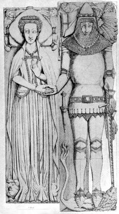 Effigy of Matilda Arderne, 1391. Skirt part of the sideless surcotte seems to be pleated?