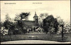Ansichtskarte / Postkarte Berlin Steglitz Lichterfelde, Alte Dorfkirche, Park
