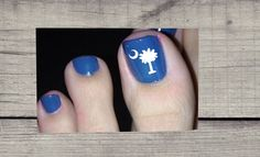 Pedicure Palmetto Tree Decals - Show off your Toes - **SALE** Cute Toe Nails, Cute Toes, Yeti Decals, Vinyl Decals, Christmas Toes, Christmas Gifts, Mani Pedi, Manicure, Hair And Nails