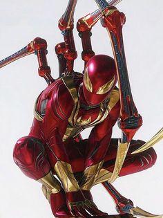- - Ideas of - Iron spider. Marvel Dc Comics, Marvel Avengers, Marvel Fan, Marvel Heroes, Spiderman Marvel, Spiderman Costume, Iron Spider, Spider Art, Spider Verse