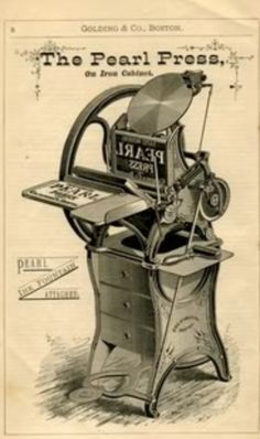 Pearl Press (Golding & Co) Printing Press, Letterpress, Restoration, Pearls, Antiques, Paper, Shop, Prints, Printing