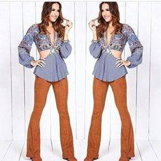 LIQUIDAÇÃO  calça suede Flare R$ 10990  by lojacajila http://ift.tt/1syqtHj