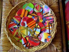 Décoration de Pâques - Lot de 5 oeufs carton 2 faces : Autres Scrapbooking par ninita