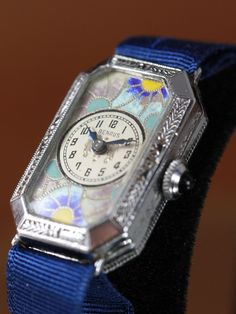 Benrus Art Deco Cloisonné Enamel Watch Circa 1920 s from Vintage Watches on  Ruby Lane Benrus Watch 77900dd73c