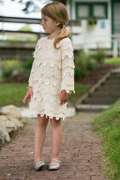 lace baby dress flower girl dress rustic lace dress long