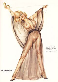 Alberto Vargas Playboy 1974 I'v been asked to a new years eve party that's come as you are