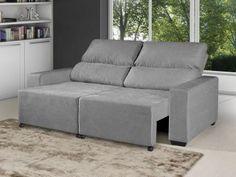 Sofá Retrátil Reclinável 3 Lugares Suede Elegance - American Comfort com as melhores condições você encontra no Magazine Allevato. Confira!