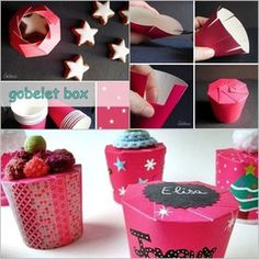 DIY Paper Cup Gift Box, cool idea to make instant gift during party in any season. Diy Gift Box, Diy Box, Diy Gifts, Gift Boxes, Christmas Tree Napkin Fold, Diy Christmas Tree, Diy Papier, Idee Diy, Dose