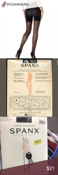 "NIP SPANX Seam Up the Back Pantyhose #385 Sz A New in Pckg  ""SPANX"" Seam Up the Back Support Pantyhose Style #385 - Size ""A"" in Black from my Store at 25% Off retail  This is a Size ""A"" designed for women 4'10"" - 5'5"" weighing 95-125 lbs.  see chart in pics      THESE SPANX shaping sheers for $28.00 at Dillard's  SPANX 385 Made in the United States of America Your legs will be completely engaging in these patterned sheer pantyhose that, added to any ensemble are totally chic. Panty slims the…"
