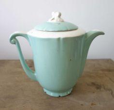 French vintage ceramic tea pot vintage tea by FarawayPlacesVintage