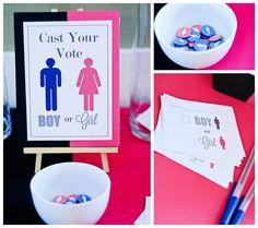 Gender Reveal Baby Shower #genderreveal #babyshower